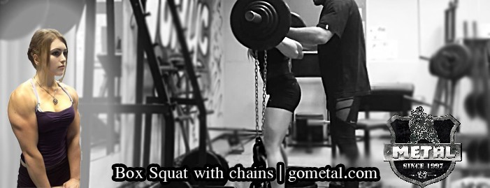 Box Squat with chains