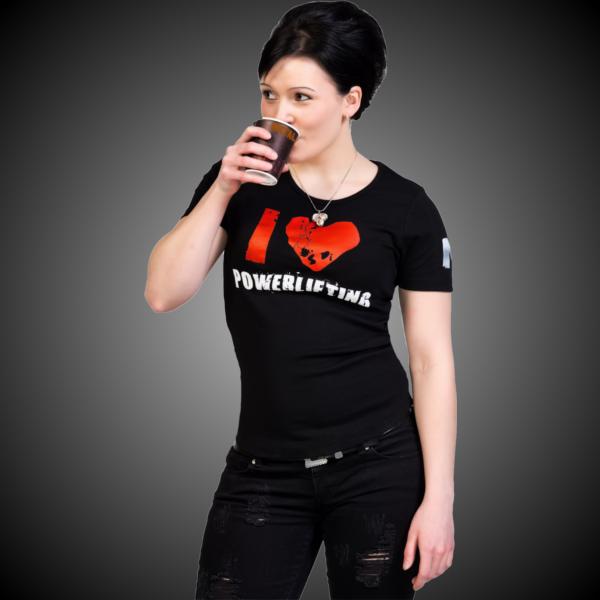 METAL I Love Powerlifting T-shirt - GOMETAL.COM