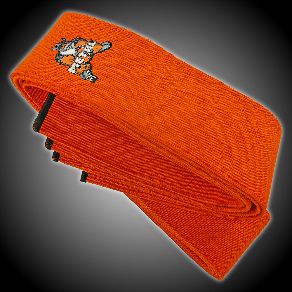 PAIR Details about  /MEISTER ORANGE KNEE WRAPS w// HOOK CLOSURES Power Weight Lifting Support