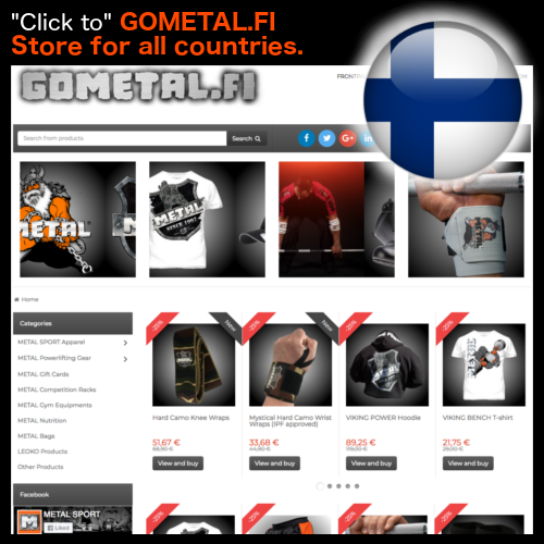 GOMETAL.FI Store for all countries